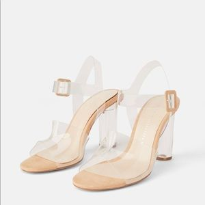 Zara Brand New With Tags Clear Heels